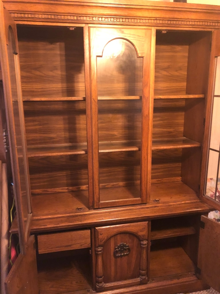 used brown wooden framed glass display cabinet for sale in rh gb letgo com