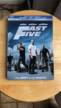Fast Five Blu-Ray & DVD Steelbook Laurel