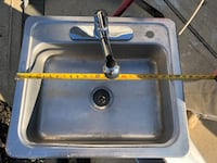 Kitchen sink with faucet  over mount. , 08721