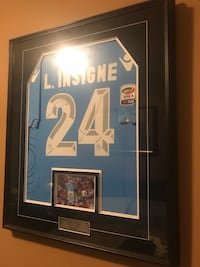 Brown wooden frame with signed jersey Need Gone ASAP Vaughan, L6A 2W5