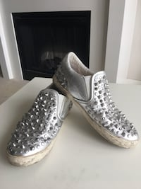Ash Silver Slip On Sneakers with Studs Burnaby, V5C 0C4