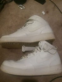 pair of white Nike Air Force 1 high Frederick, 21703