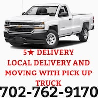 Local moving and delivery with pick up truck start from 40 Henderson