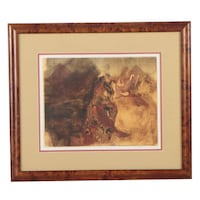 "Trevor Geoghegan Late 20th Century Signed Lithograph! Abstract Equestrian! 23"" by 18"" Sudbury"