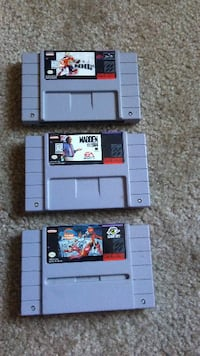 3 video games SNES Valparaiso