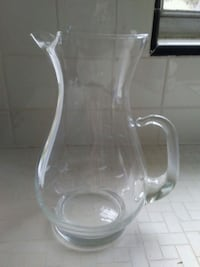 Etched  glass pitcher Jacksonville, 32207