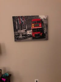 Canvas Print of London Bus Gaithersburg, 20878