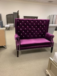 purple leather tufted sofa chair Stafford, 77477