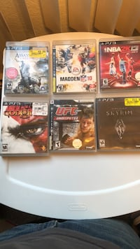 six assorted PS3 game cases Greeley, 80634