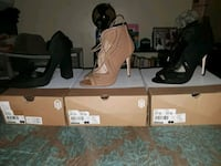 Three pairs of heels size 8