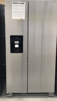 Whirlpool - 24.6 Cu. Ft. Side-by-Side Refrigerator - Stainless steel  Houston