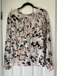 Floral Pink Blouse with Open and Twist Back