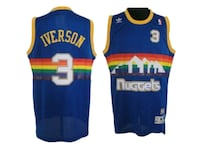 Allen Iverson throwback nuggets jersey Troy, 12180