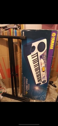 Old school Yamaha piano, stand & chair