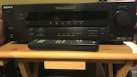 Black Sony component stereo receiver with remote Newburgh town, 12550