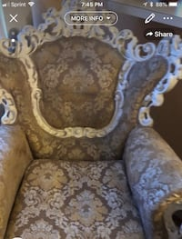 brown and white floral fabric sofa chair Los Angeles, 91605