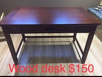 Solid wooden brown desk - perfect condition Laval, H7V 2A9