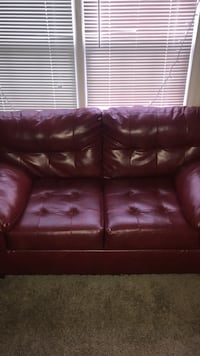 brown leather 3-seat sofa Taylors, 29687