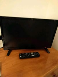 black flat screen TV with remote Clifton, 20124