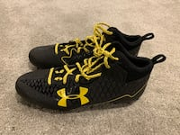 Black/yellow Under Armour cleats size 12 Halethorpe, 21227