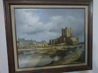 brown wooden framed painting of houses Bloomfield, 07003