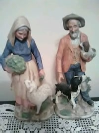 two man and woman ceramic figurines Dubuque