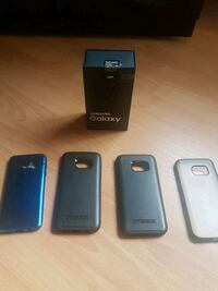 black Samsung Galaxy S6 edge with case Vaughan, L4H 3T8