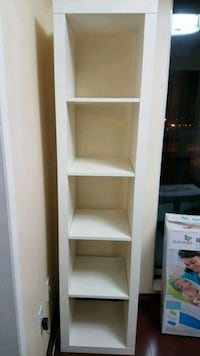 IKEA 5 compartment shelf, white