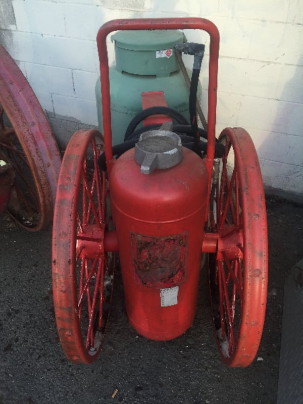 Used Antique Ansul Fire Extinguisher On