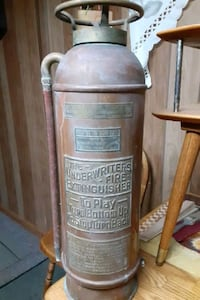 1900s fire extinguisher been i garage past 70 Plus yrs  nd new truck