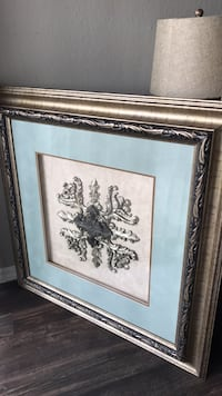 brown wooden framed painting of flowers Fort Worth, 76120