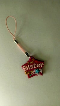 """Cell phone charm """"best sister ever"""" Summit"""