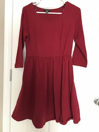 Wine red maroon dress