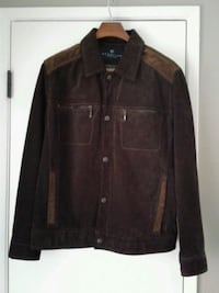 Men's Kenneth Cole Brown Suede Jacket, Medium Lake Forest