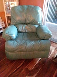 Teal leather recliner sofa chair Bradenton, 34209