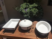 white and black ceramic bowl and plate San Diego, 92111