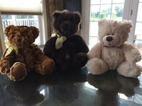 3 stuffed new teddy bears Nokesville, 20181
