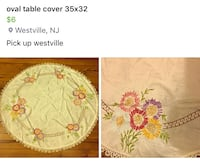 oval floral table cover