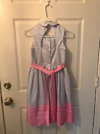 Women's pink and white striped sleeveless dress Springfield, 22153