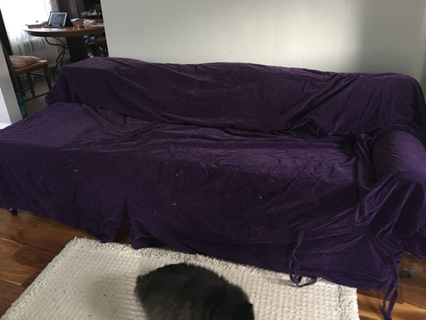 Easy Fit Purple Velvet Slipcover 49a218e8-d249-4e25-9662-e430acd7d757