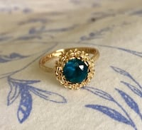 14 K London Blue Topaz Ring Lovettsville, 20180
