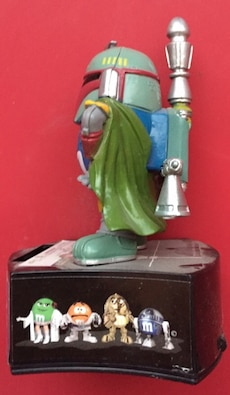 Star Wars boba fett and m and m figure