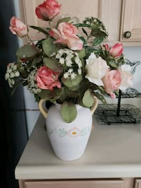 Decorative Vase with silk flowers Westchester County