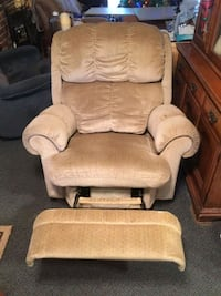 brown fabric sofa chair with ottoman Springfield