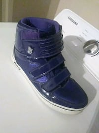 pair of blue-and-white high top sneakers Raleigh, 27603