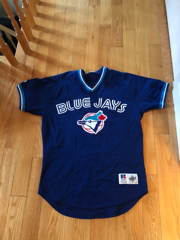 9ab64137443ca Used Throwback Toronto blue jays jersey 44 L for sale in Oakville ...