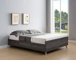 Storage bed full size, gray