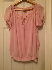Pink scoop-neck blouse