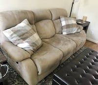 Tan Couch with recliners Alexandria, 22314