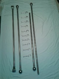 Brushed nickel curtain rods